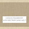 Canvas Mushroom with Spectrum Sand Welt