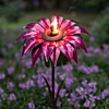 "Outdoor Metal Bishop Dahlia Garden Torch 36"""