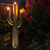 Outdoor Metal Saguaro Cactus Torch