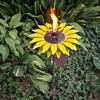 "Outdoor Metal Sunflower Garden Torch 32"""
