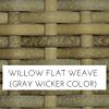 Willow grey wicker
