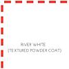 White Sandblasted Textured Powder Coat Marine Polymer Frame Finish