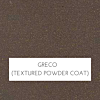 Greco (Brown) Sandblasted Textured Powder Coat Marine Polymer Frame Finish