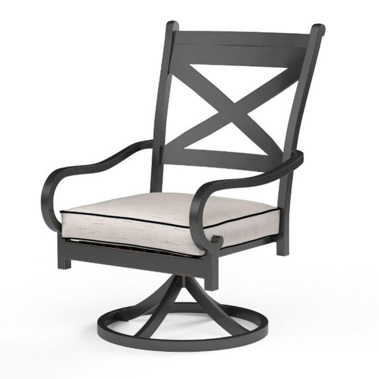 Sunset West Monterey Swivel Rocking Dining Chair