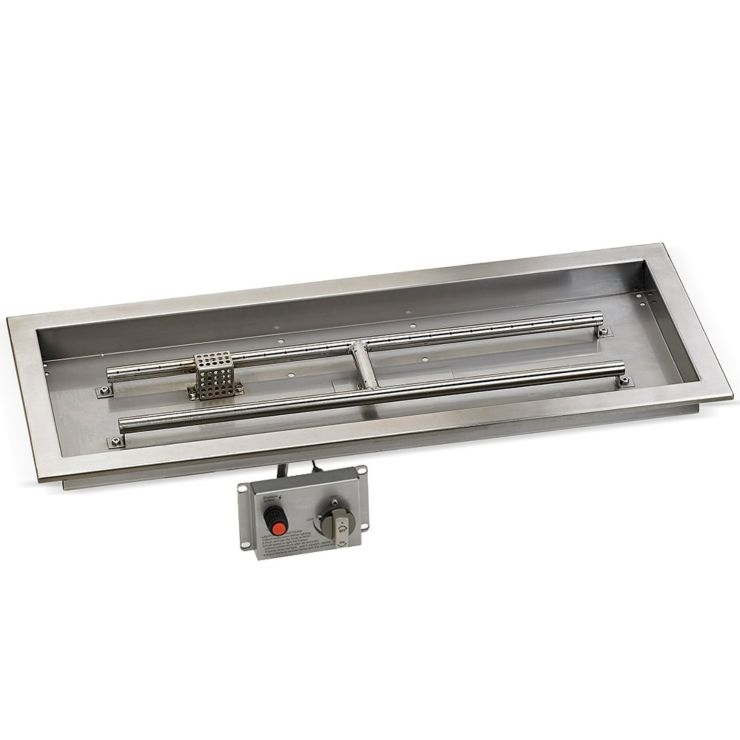 """30"""" Stainless Steel Drop-in Fire Pit Kit"""