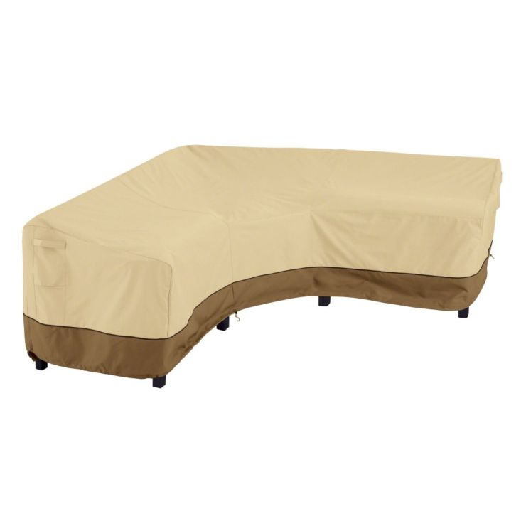 V Shaped Patio Sectional Outdoor Cover