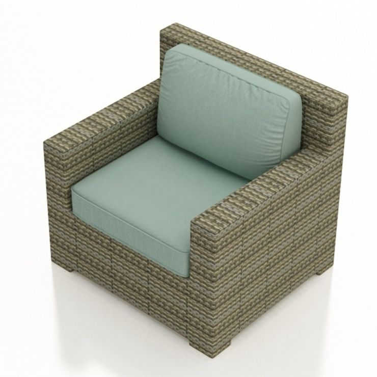 Club Chair in willow weave with Canvas Spa