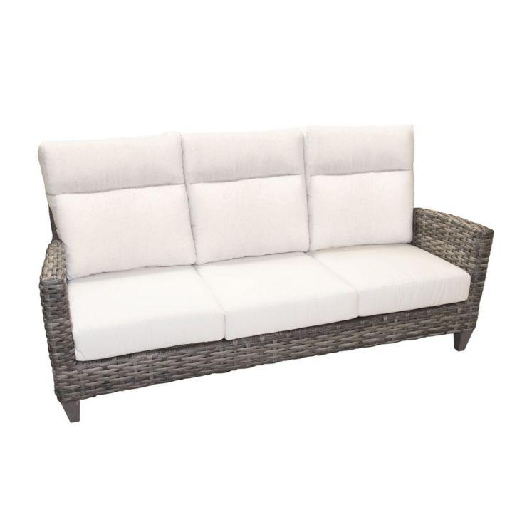 Grand Stafford Wicker 3 Seater Sofa