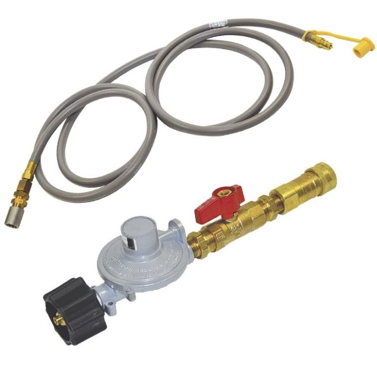 Propane Regulator, Ball Valve, Quick Connect, Hose and Air Mixer