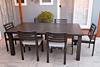 Mezo Extendable Dining Table 7 Piece Set - Ash Grey Frame