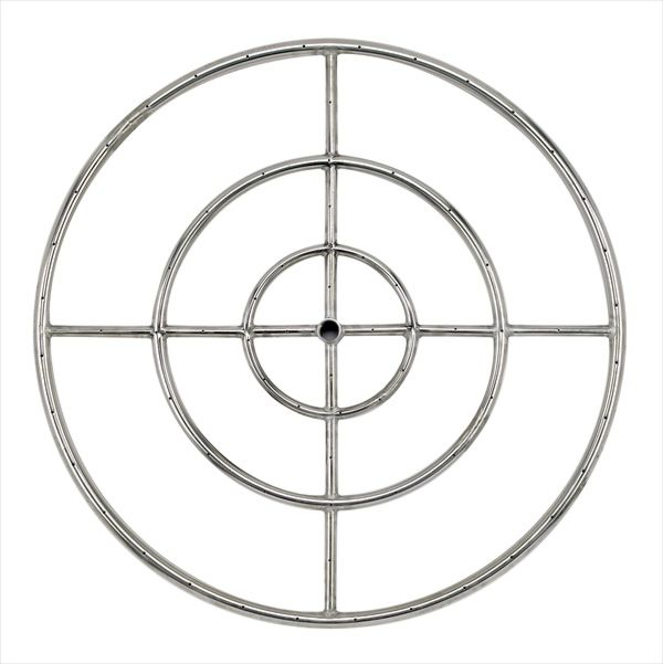 """30"""" Stainless Steel Triple Fire Pit Ring Burner"""