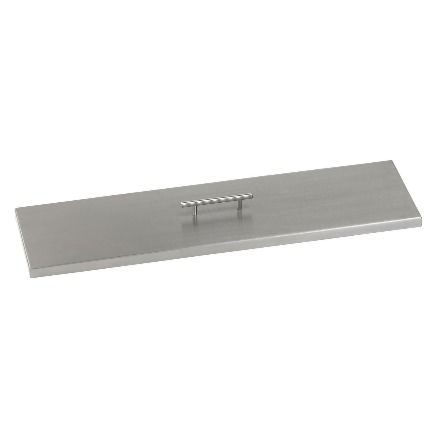 Stainless steel linear fire table cover