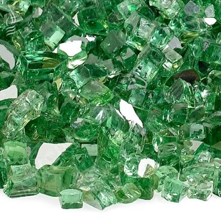 Fireplace Glass - Evergreen Reflective 1/4 Inch - 10 lb. Bag