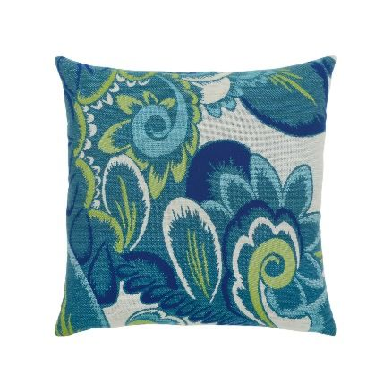Elaine Smith Outdoor Floral Wave Pillow