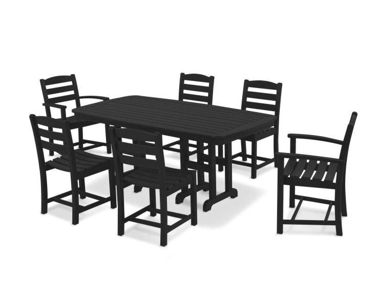 La Casa Café 7Pc Dining Set - Black