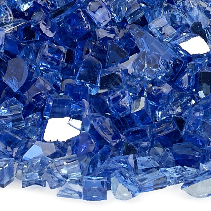 Cobalt Blue Reflective Fire Glass