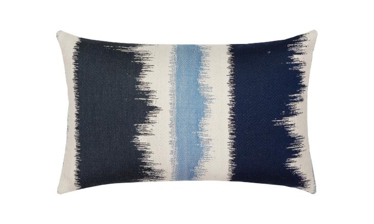 Elaine Smith Outdoor Murmur Midnight Lumbar Pillow