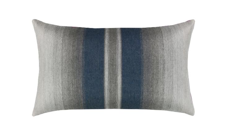 Elaine Smith Outdoor Ombre Indigo Lumbar Pillow