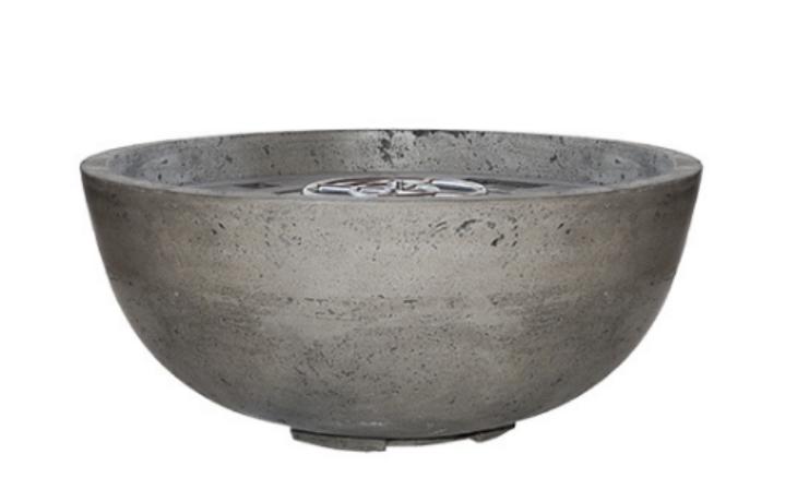 Prism Pewter Moderno 1 Concrete Fire Bowl