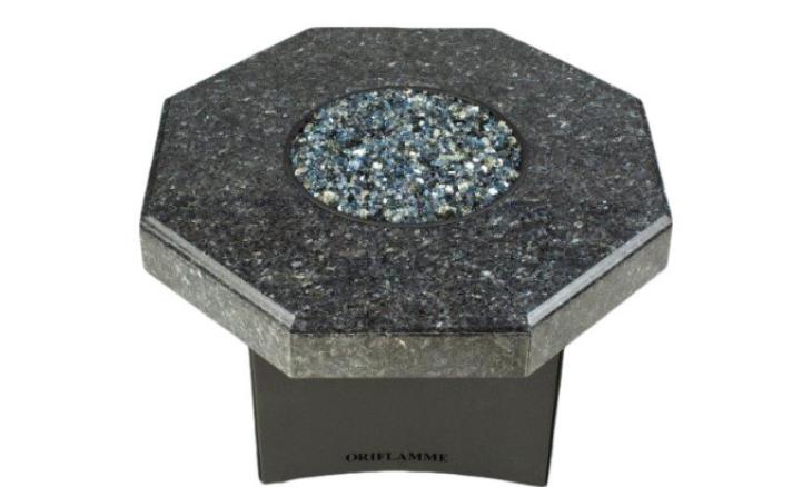 "Oriflamme Mini 32"" Octagon Fire Table - Blue Pearl"