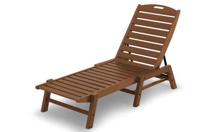 POLYWOOD Nautical Chaise Stackable