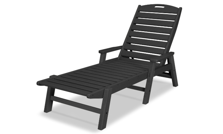 Nautical Chaise with Arms in Black