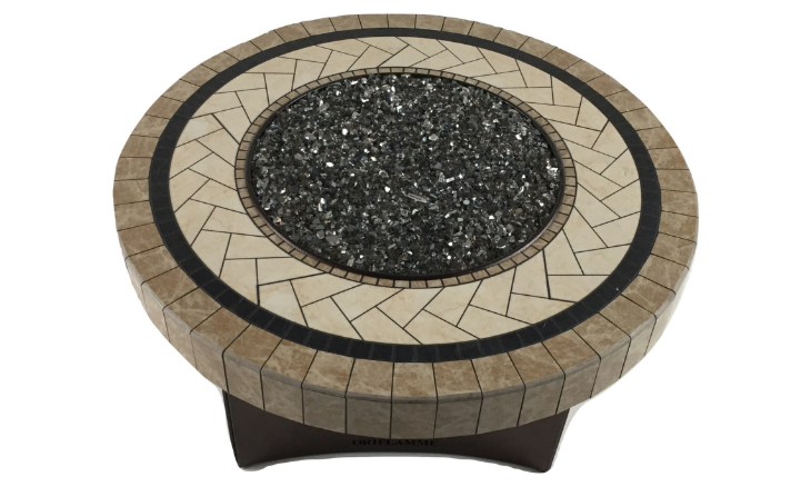 Oriflamme Nava gas fire pit table