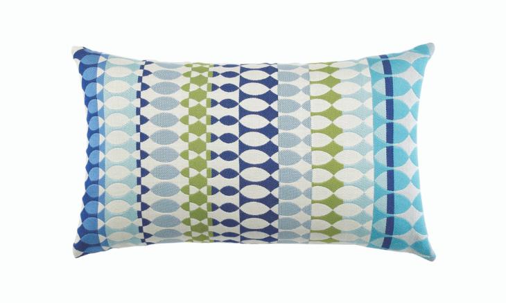 Modern Oval Ocean Lumbar Pillow