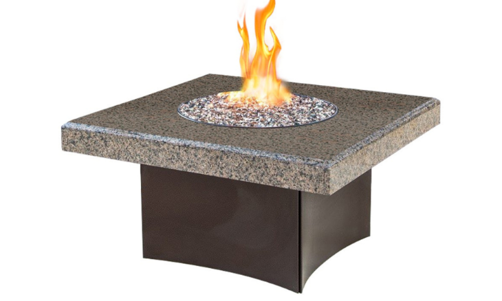 Oriflamme Gas Fire Pit Table Tropical Sunscape 40'' Sq