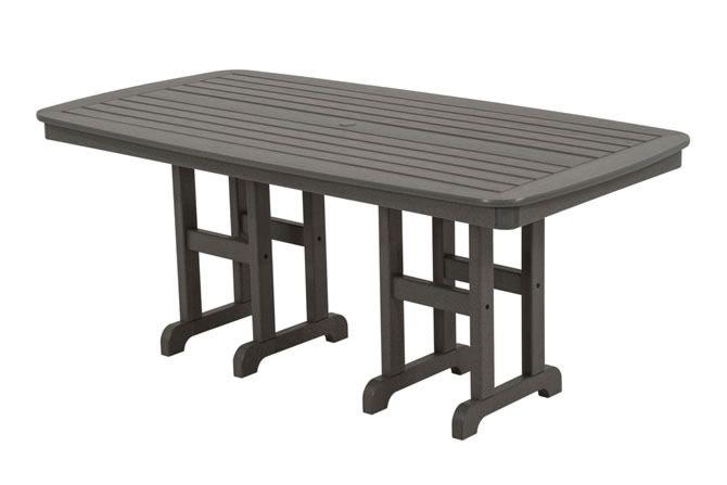 "Polywood Nautical 37"" x 72"" Dining Table - Grey"