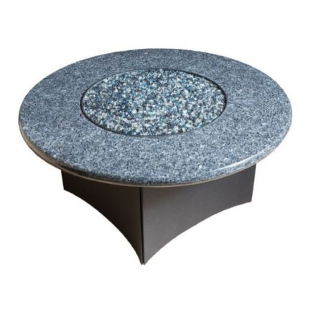 Oriflamme Gas Fire Pit Table Blue Pearl Granite