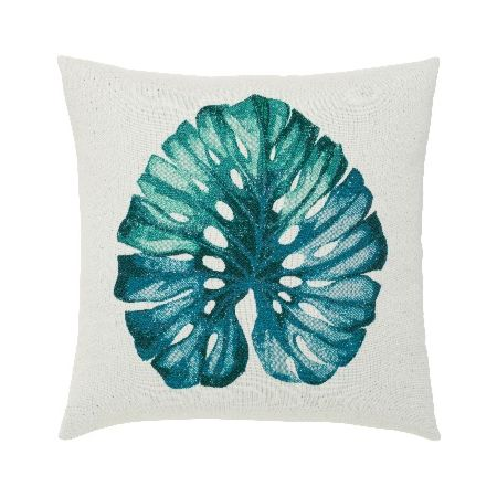 Elaine Smith Outdoor Leaf Lagoon Pillow