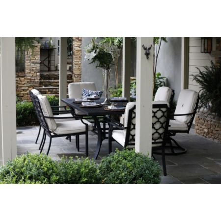 Seville outdoor dining set with 6 chairs