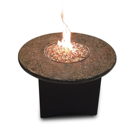 Gas fire table 32 inch round (Tropical Brown Granite)