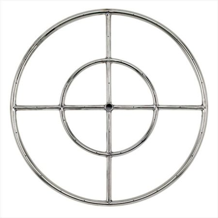 "24"" Stainless Steel Fire Pit Ring Burner"