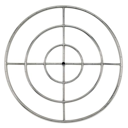 """36"""" Stainless Steel Fire Pit Ring Burner"""