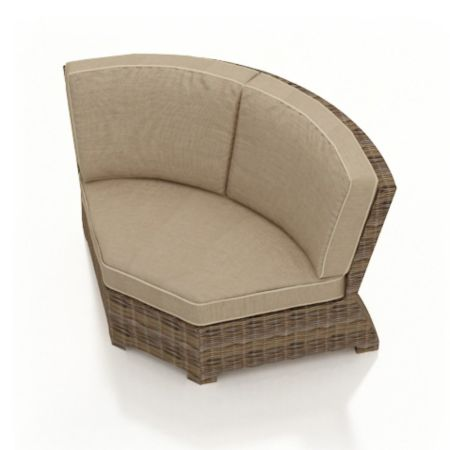 Bainbridge Round Wicker Sectional Piece