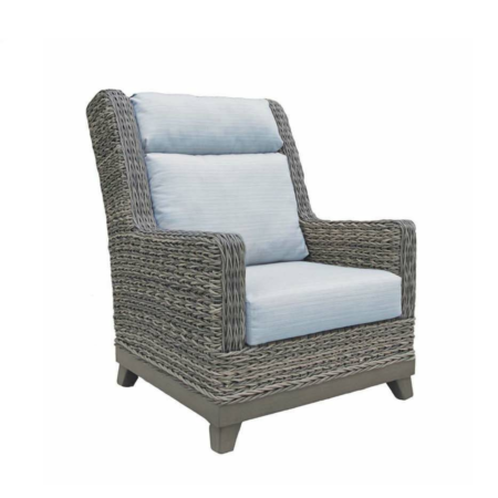 Boston Wicker Highback Wing Chair