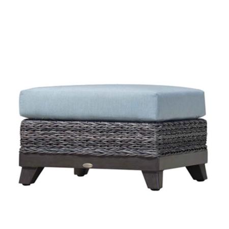 Boston Wicker Ottoman w/Cushion