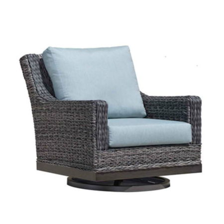 Boston Wicker Swivel Club Chair