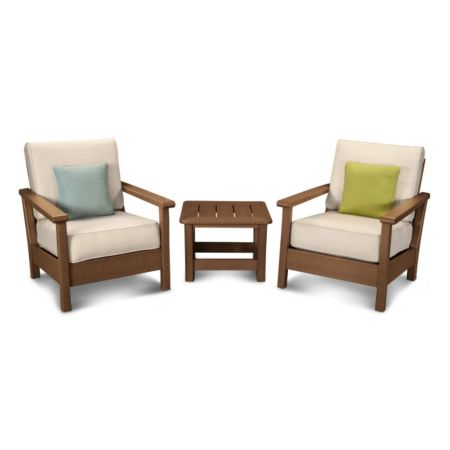 Polywood Harbour 3-Piece Deep Seating Set