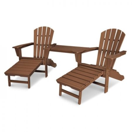 Polywood Palm Coast Ultimate Adirondack Tete-A-Tete Set