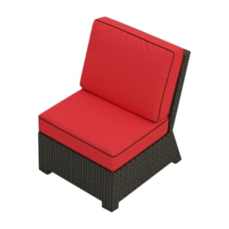 Cabo Wicker Middle Chair (Flagship Ruby Fabric)