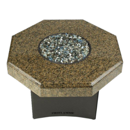 "Oriflamme Mini 32"" Octagon Fire Table - Tropical Elegance"