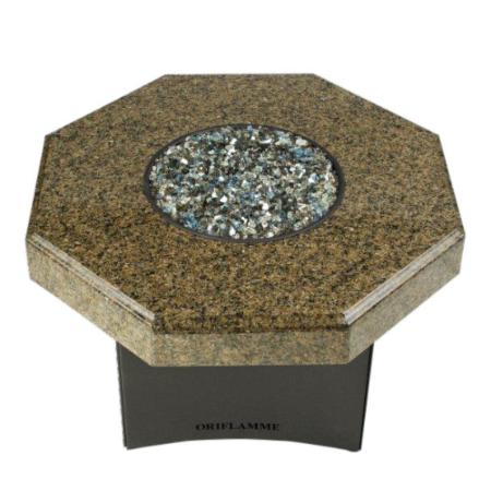 "Oriflamme Mini 32"" Octagon Fire Table - Tropical Elegance"