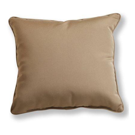 Canvas Cocoa Sunbrella Throw Pillow