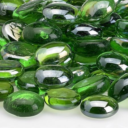 Fireplace Fire Pit Beads Emerald Green Luster