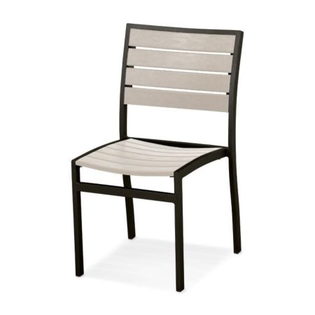 Polywood Euro™ Dining Side Chair - Sand Slate