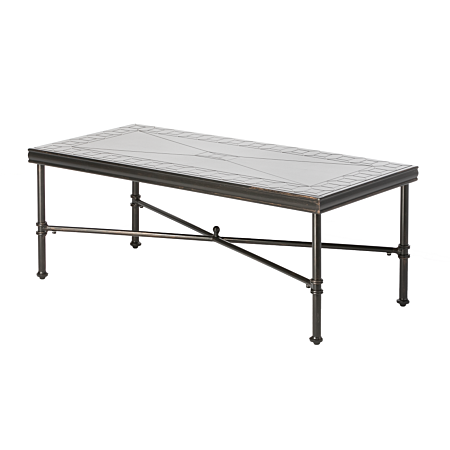 "Honeycomb 48"" Rectangular Outdoor Coffee Table"