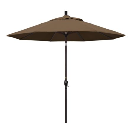 9' Market Style Outdoor Umbrella with Wind Vent Canvas Cocoa